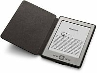 Genuine Amazon Kindle E-reader real leather cover case BLACK (for Kindle 4 & 5)