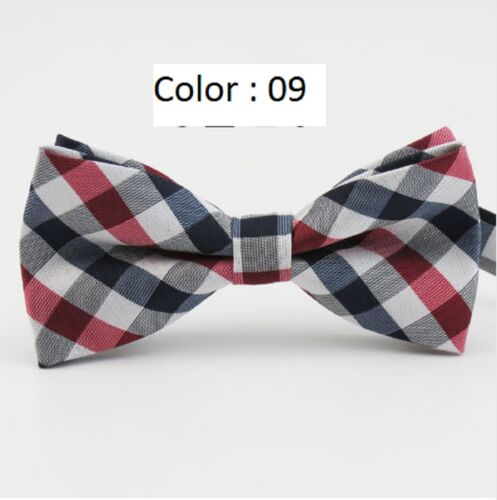 Men/'s fashion butterfly adjustable plaid wedding party casual tuxedo Bow Tie