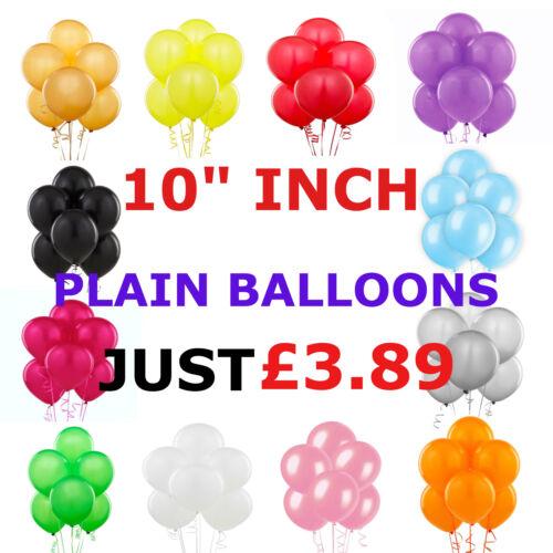 "100 PCS HELIUM plain Latex Balloons 10/"" Wedding Birthday Party CHRISTENING"