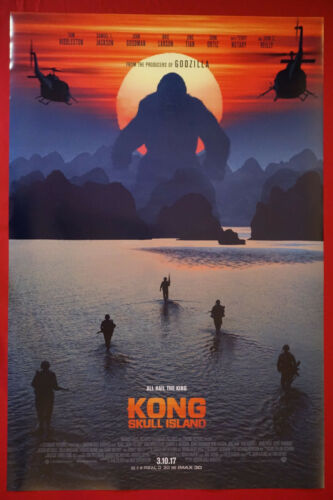 Kong Skull Island King Kong Ape Island Ocean 2017 Movie Poster 24X36 New   KONG