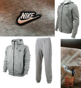 bellissimo stile cerca genuino prezzo scontato Mens NIKE Tracksuit Fleece Hoodie top-bottom 532631 Grey Mel ...
