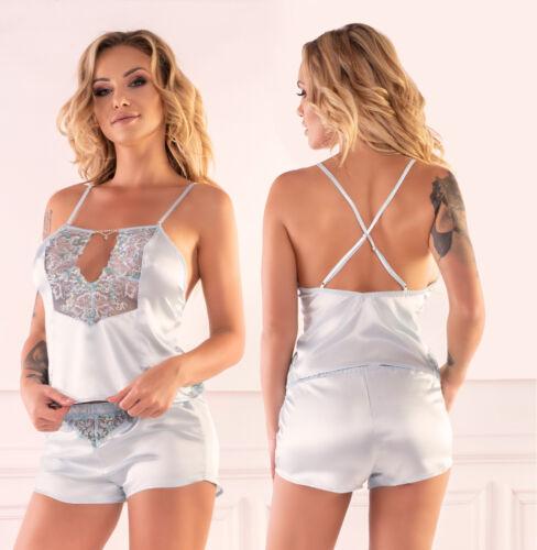 LIVCO CORSETTI Fanthera Luxury Super Soft Satin Cami Top and Matching Shorts Set