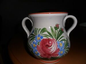 Blumenvase-Keramiktopf-Handarbeit-Kuenstler-Basso-Italien