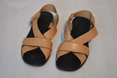 pelle beige Sandals Womens Uk Wang Flats Eu 40 Kriss Crossover in Alexander 7 FIqtxwHOq
