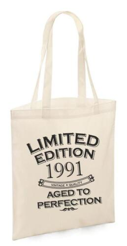 28th regali di compleanno regalo ANNO 1991 SHOPPING SHOPPER Ricordo Da Donna Tote Bag