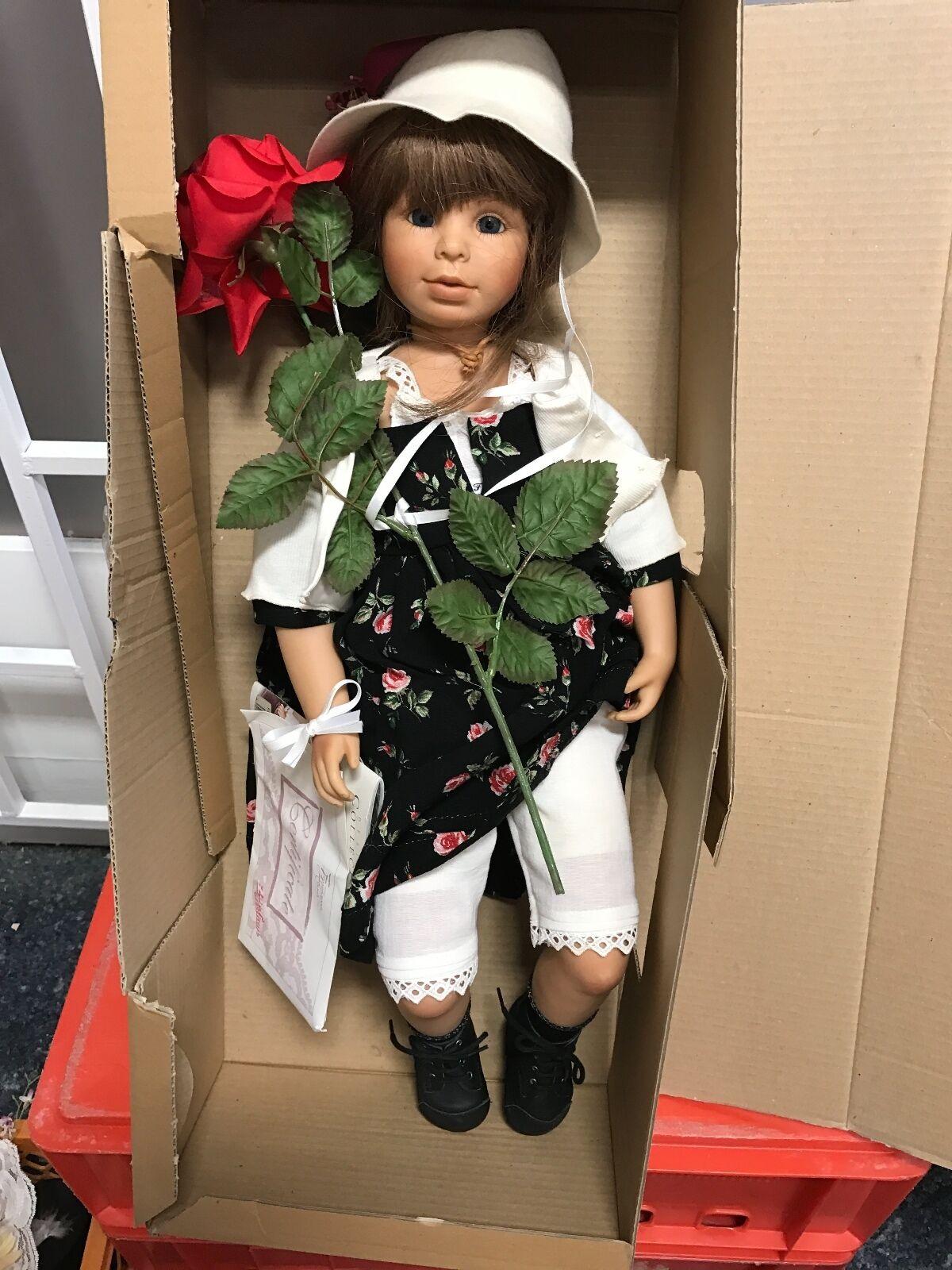 Bettina Feigenspan Vinyl Puppe Klara 62 cm. Top Zustand.