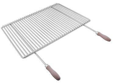 Grille de barbecue en inox, réglable en largeur, de 65