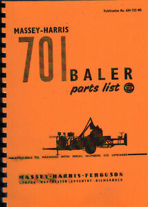 "Massey-Harris ""No.701"" Baler Illustrated Parts Book"
