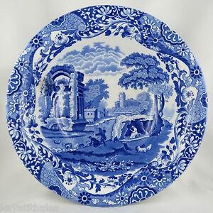 """SûR Plat Creux Bowl Copeland """"spode's Italian"""" England Earthenware/antique Blue Dish"""