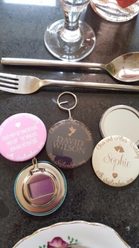 Mirror Magnet any design Bottle opener Place Names Wedding Favour Gifts