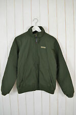 WOOLRICH Bambini Giacca Outdoor Verde Scuro Foderato in Pile NYLON TG 12 anni