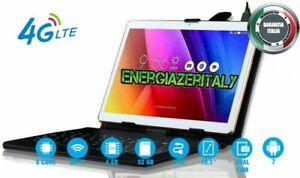 TABLET-10-POLLICI-4G-LTE-TASTIERA-DECA-CORE-6GB-RAM-128GB-ANDROID-SIM-GPS-WIFI