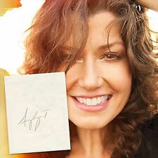 AMY GRANT HAND-SIGNED AUTOGRAPHED PAPER w/LIFETIME AUTHENTICITY GUARANTEE!!!