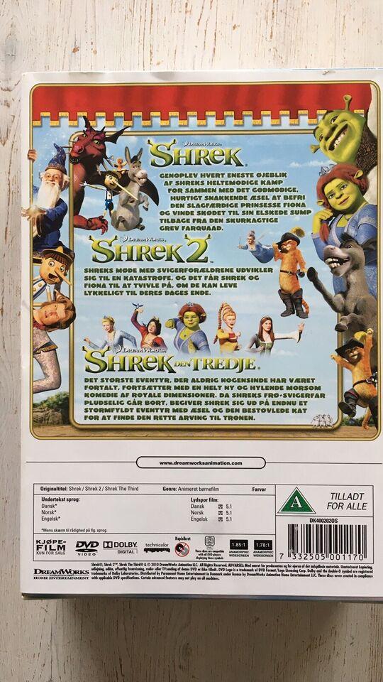 The Shrek Triology, DVD, animation
