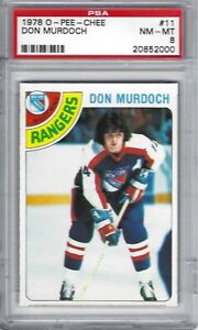 1978-O-PEE-CHEE-11-Don-Murdoch-New-York-Rangers-NHL-PSA-8-NM-MT