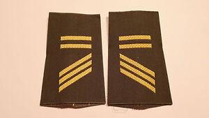 Bundeswehr Rangschlaufen Marine gelb auf Khaki Tropen Obergefreiter 1 paar