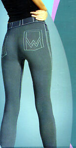 Damen-Leggings-im-Jeans-Look-3D-Mikrofaser-120-DEN-One-Size-diverse-Farben