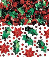 Amscan 1 Count Christmas Botanical Confetti Mix Foil, 2.5 Oz, Multicolor, New, F