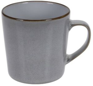 Set Of 6 Large Grey Brown Mocha Coffee Mugs Speckled Design 360ml Capacity