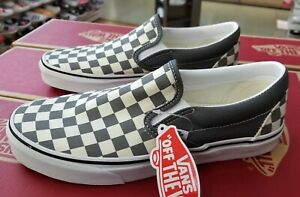 vans slip on checkerboard pewter