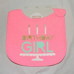 Image Is Loading New Carters Baby My 1st Birthday Girl Bib