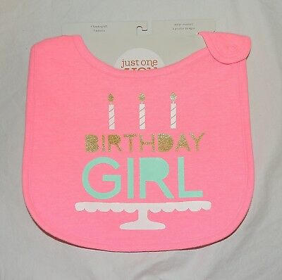 New Carters Baby My 1st Birthday Bib First Boy Happy Birthday to Me Unisex