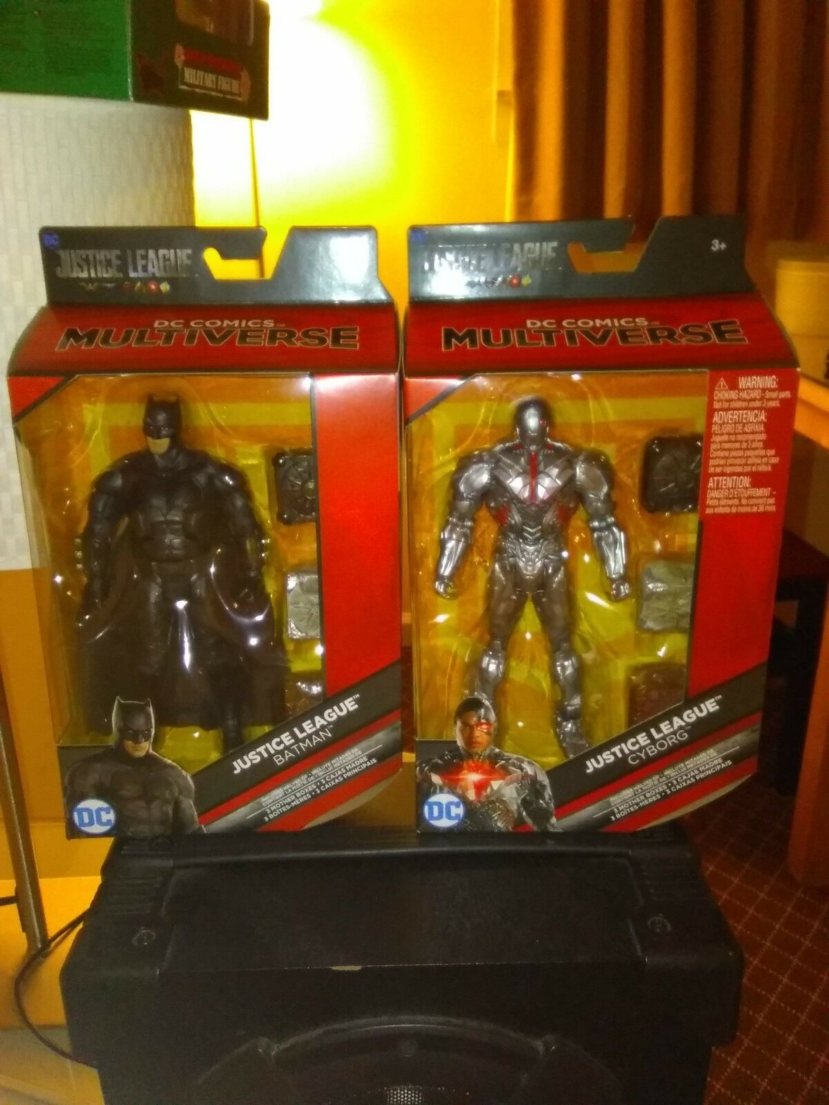 DC Comics Multiverse Justice League Batman & Cybog Cybog Cybog w Mother Boxes (NEW)  c013c6