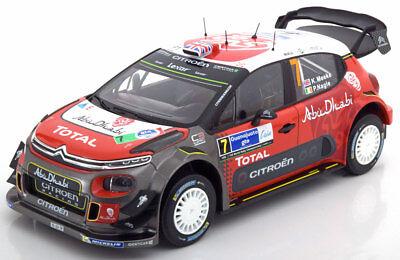 CITROEN DS3 C3 Rallye WRC 2017 Winner Mexiko 2017 #7 Meeke Abu Dhabi Norev 1:18