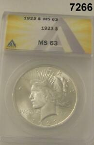 1923-PEACE-SILVER-DOLLAR-ANACS-CERTIFIED-MS63-FLASHY-7266