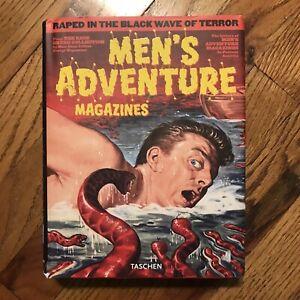 Men's Adventure Magazines Hardback With DJ Book Of Mens Adventure Covers Pinups