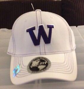f456c868285bb WASHINGTON HUSKIES SHARP Looking Unisex Adult ONE-Fit WHITE Cap Hat ...