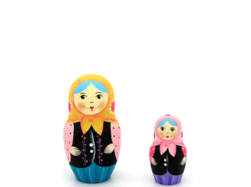 Bambole Russe a matrioska MATRIOSCA originale 5 Tradizionale Blu Pastello Rosa Lilla
