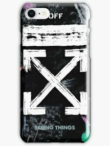 free shipping fc8df 9ab8b Details about OFF WHITE Galaxy Brushed iPhone X 5 SE 6 7 8 S Plus Off White  Phone Case
