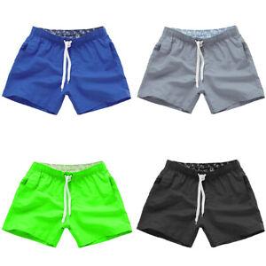 7138affe54 La imagen se está cargando Hombre-Pantalones-Cortos-de-Playa-Deportes -Gimnasio-Casual-