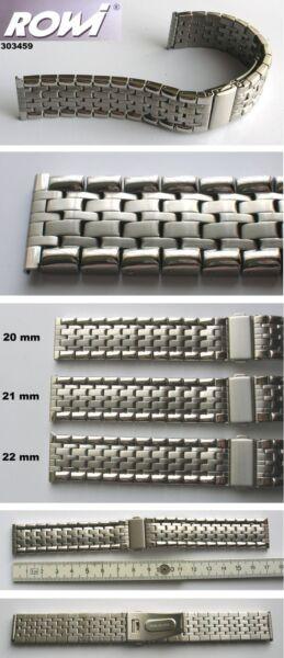 - Sehr Elegantes Edelstahluhrenarmband Mit Faltschließe Auswahl: 20mm, 21, 22 Mm