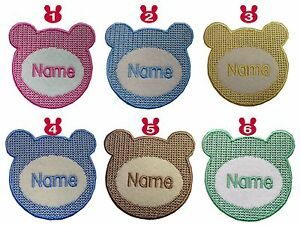 Bear-shape-Embroidered-Personalised-Sew-on-Iron-on-name-badge-patch-size-70X74mm