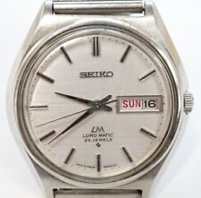 Vintage 1969 Seiko Automatic Watch LM Lord Matic 5606-7010 25j GP