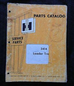 1961-68 INTERNATIONAL HARVESTER 3414 TRACTOR LOADER PARTS CATALOG MANUAL