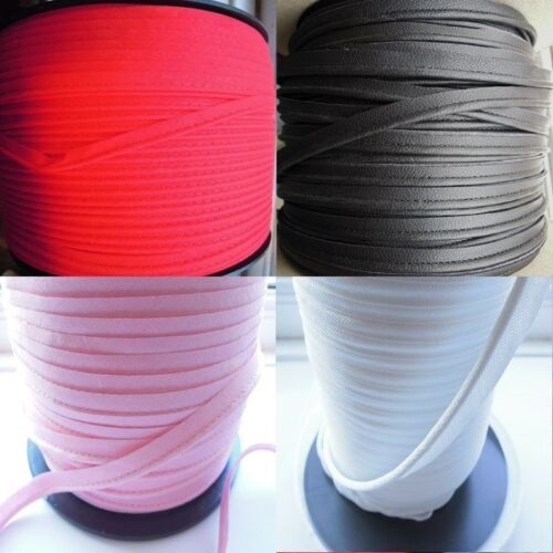 Upholstery Flanged Piping Cord 10 Metres Leather /& Fabric Pink Red Black White