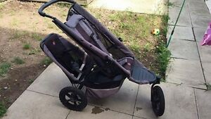 Phil and Teds double stroller- black and grey