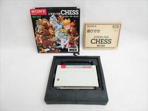 MSX-COMPUTER-CHESS-Item-REF-1486-Msx-Cartridge-Sony-Video-Game-Japan-MSX