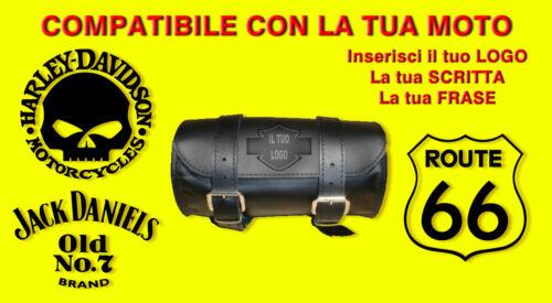 Barilotto Borsa x moto 20x10 custom Harley Davidson jack daniels teschio skull