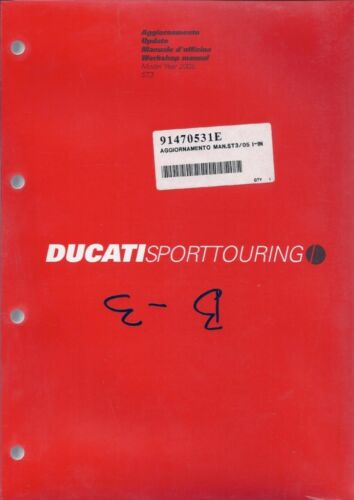 ENGLISH//ITALIAN 2005 Ducati ST3 91470531E SUPPLEMENT ONLY shop manual NEW
