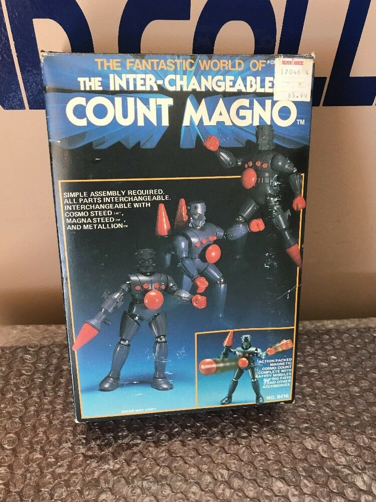 VINTAGE MEGO MICRONAUTS COUNT MAGNO  BARON KARZA -Box And Inset ONLY LOOK