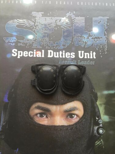 Soldier Story SDU Assault Leader Black Knee Pads loose 1//6th scale