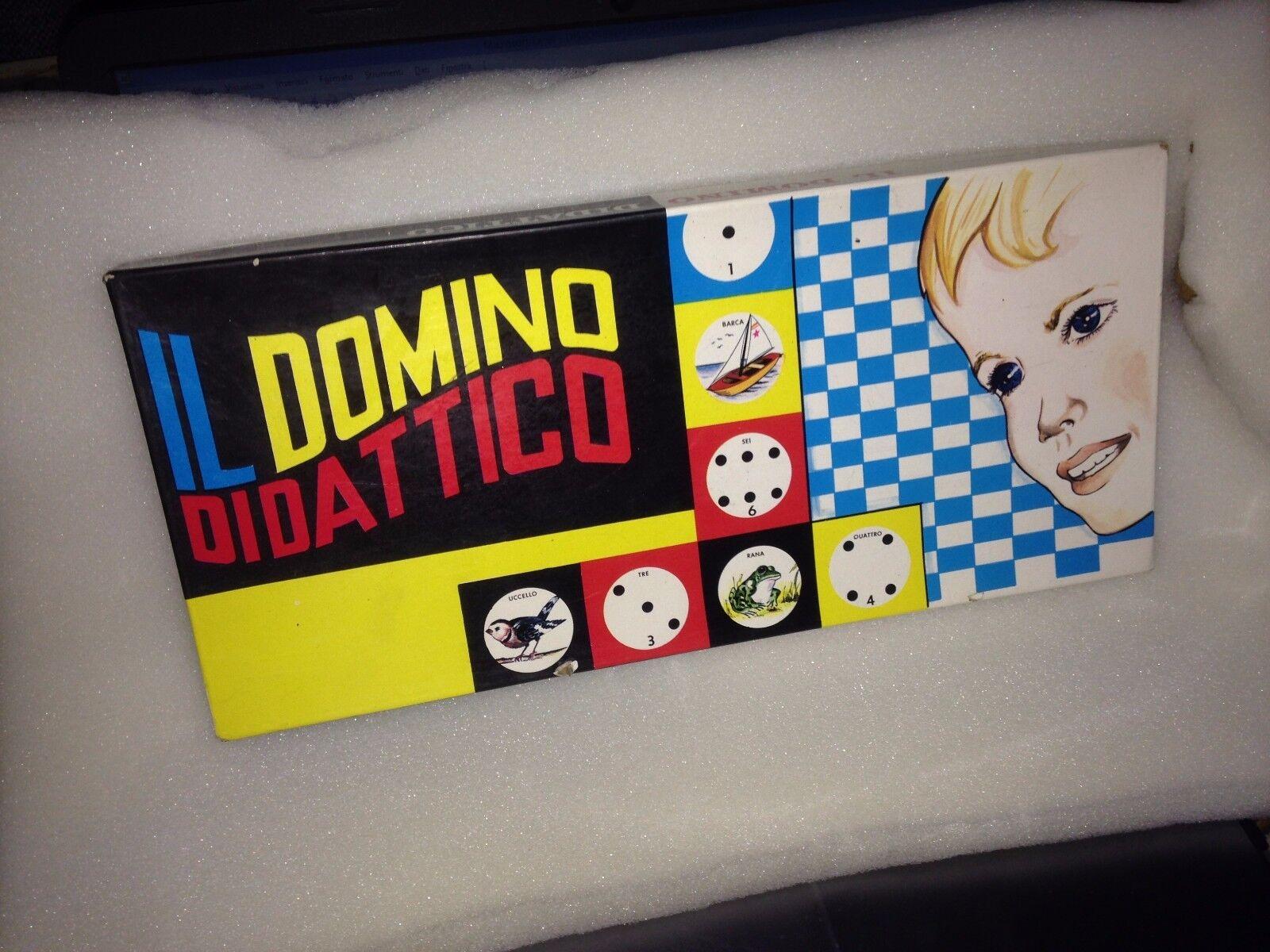IL DOMINO DIDATTICO didactic domino  GIOCO DI SOCIETà VINTAGE board game ANNI '60  la meilleure offre de magasin en ligne