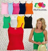 FRUIT OF THE LOOM Damen Träger Top Lady Fit Strap T-Shirt 10 Farben XS - XXL