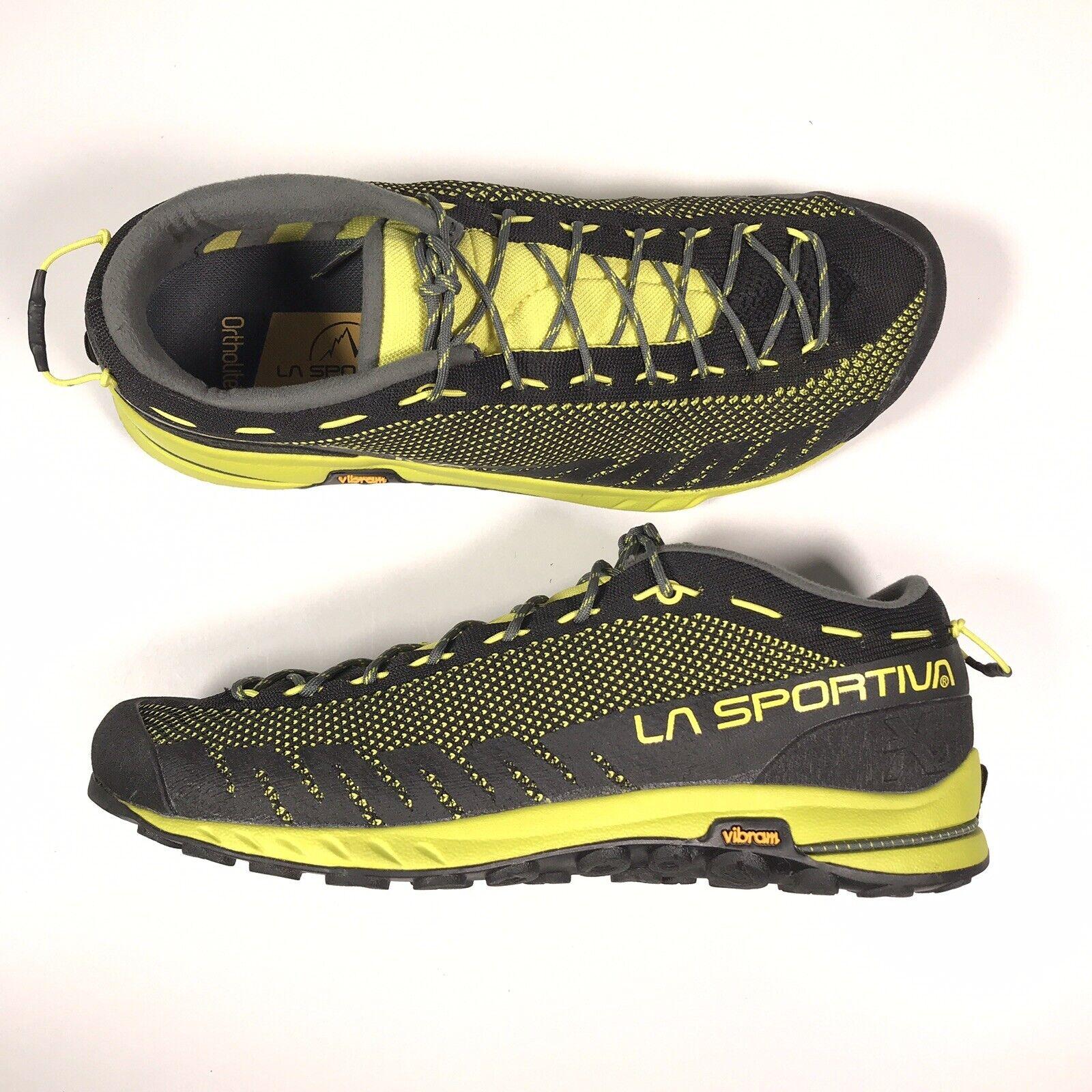 La Sportiva nos TX2 para hombre Mt. Escalada Senderismo Zapatos Negro Amarillo nos