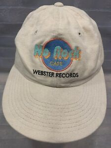 WEBSTER RECORDS St Louis Music Store No Rock Adjustable Adult Cap