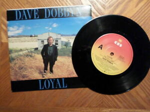 AUSTRALIA-CBS-7-034-45-RECORD-w-PIC-SLEEVE-DAVE-DOBBYN-LOYAL-SAVED-EX-VINYL